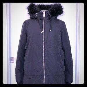 Zara black parka jacket